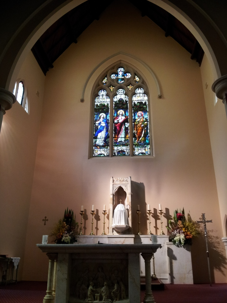 The sanctuary of the Mary McKillop Chapel, North Sydney
