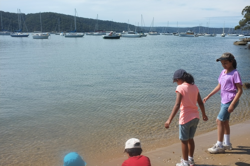 Exploring at the Hawkesbury River today, the last day of our spring school holidays.