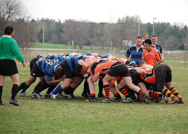 football scrum